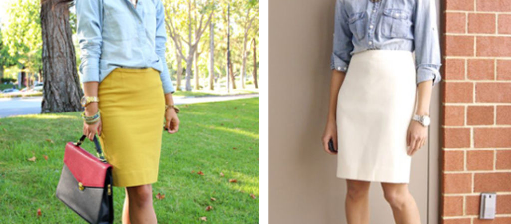 С чем носить юбку карандаш
