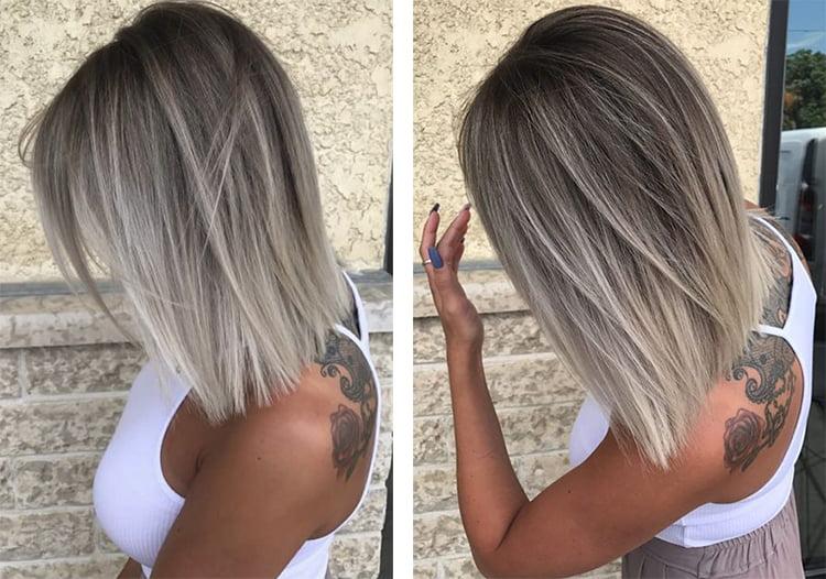 Пепельный цвет волос на темные волосы