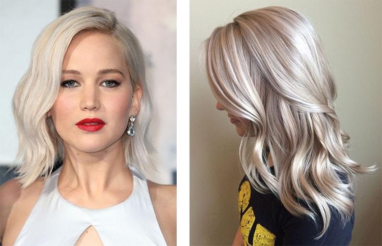 Пепельный блонд - холодный цвет волос (фото)