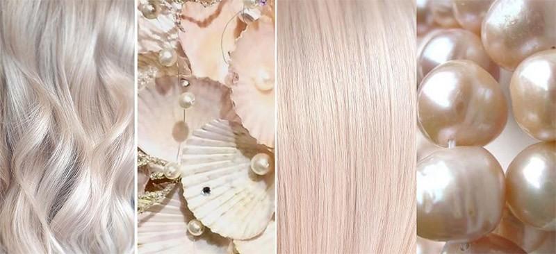 блонд серебристый жемчужный