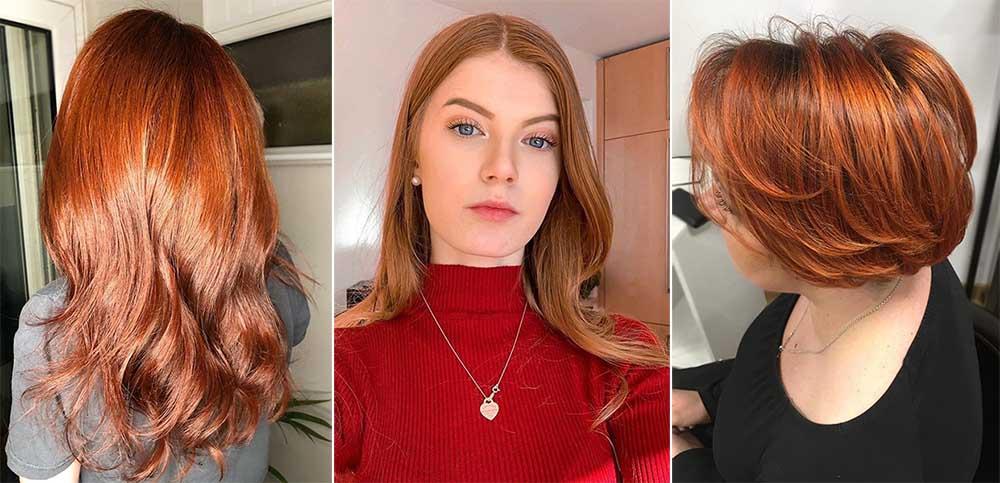 Рыжий цвет волос: темный, светлый, русый, краска