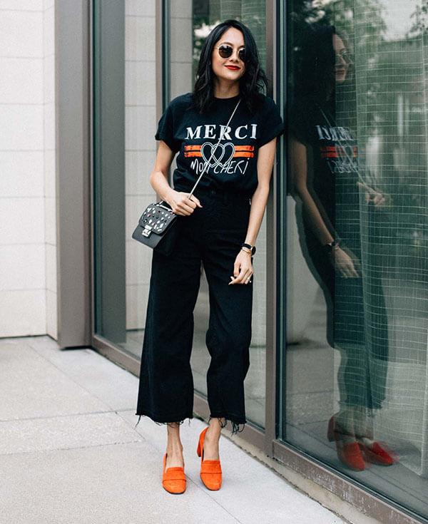 С чем носить широкие джинсы 2020
