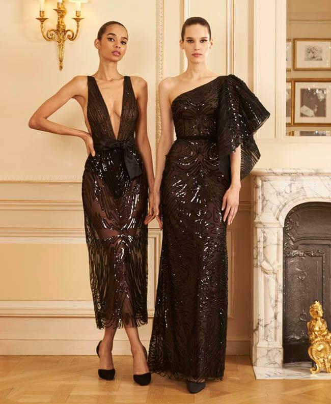 черное платье на Новый год 2021