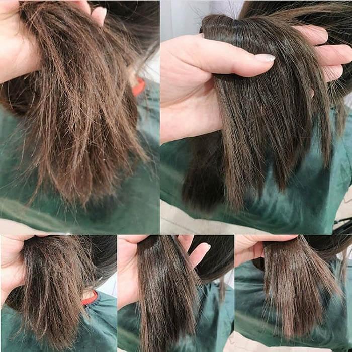 результат полировки волос