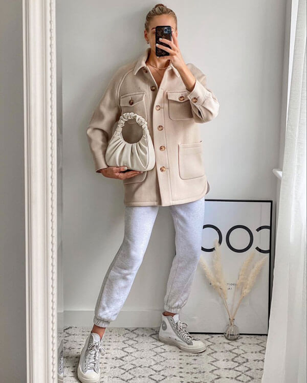 Короткое пальто рубашка