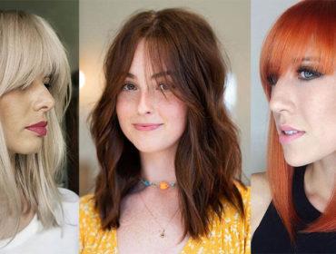 Женские стрижки на средние волосы с челкой 2021/2022 (ФОТО)